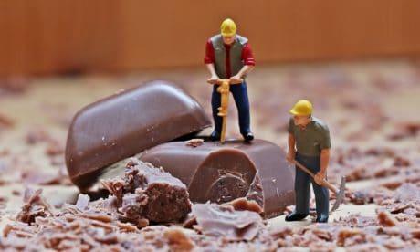 chocolate, de interior, juguete, decoración, trabajador