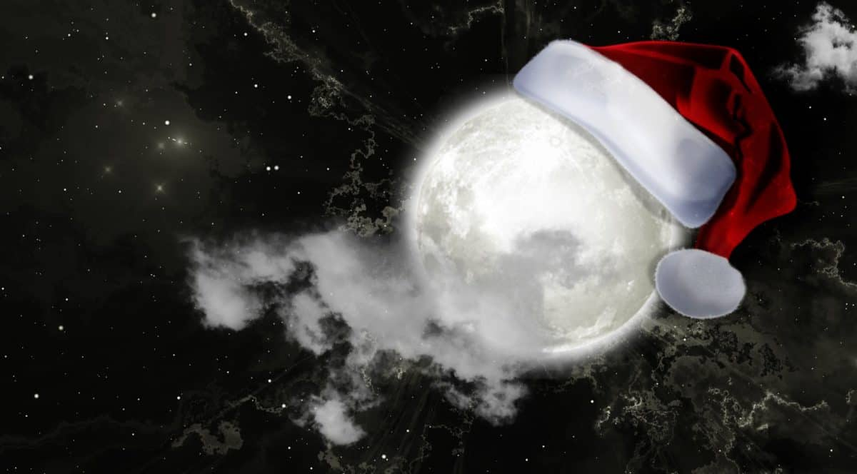photomontage, art, creativity, astronomy, moon, planet, galaxy, decoration, new year, cap