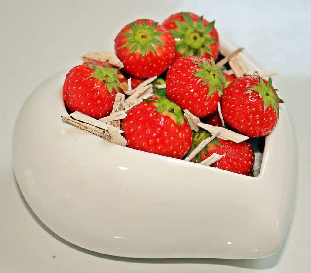 dulce, dieta, fruta, deliciosa, fresa, alimento, tazón de fuente