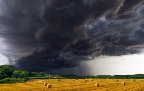 météorologie, tempête, campagne, ciel, paysage, nature, agriculture, nuageux