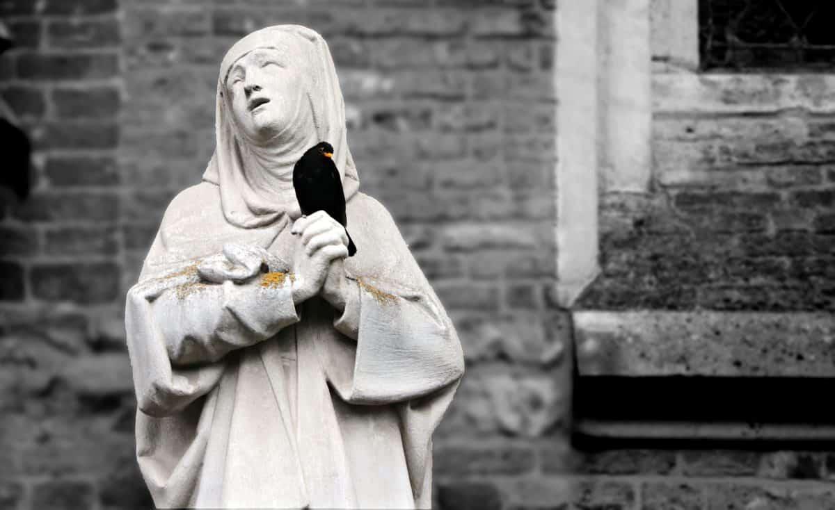 tôn giáo, tượng, đơn sắc, ánh sáng ban ngày, street, tác phẩm điêu khắc ngoài trời