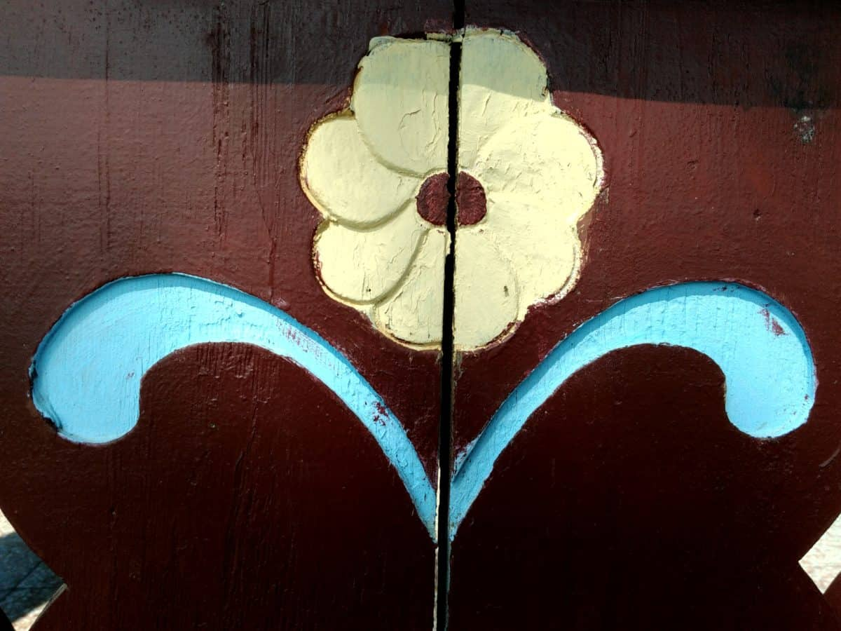 art, wood, flower, decoration, paint, material, object