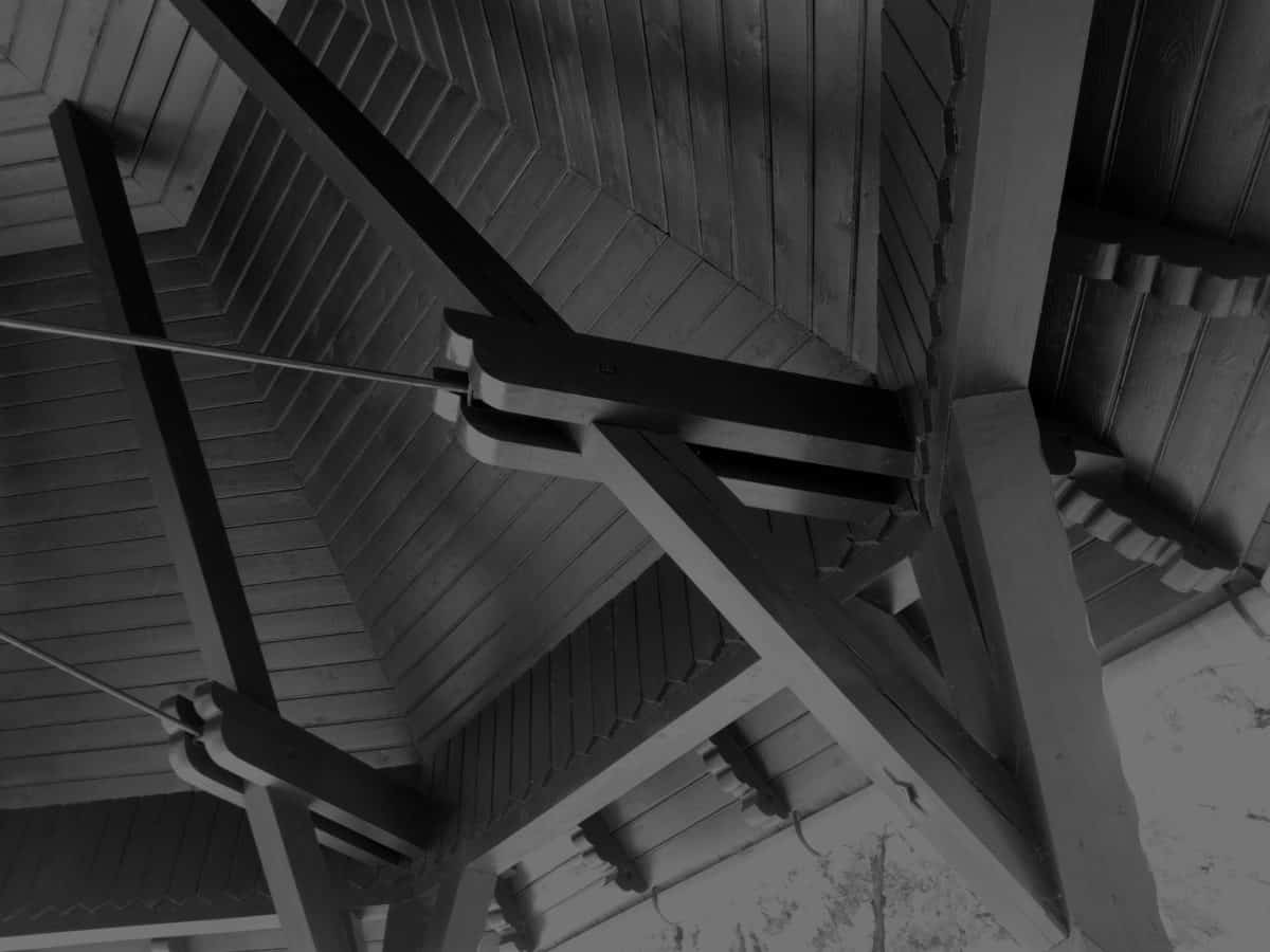 roof, wood, architecture, monochrome, shadow, exterior, art