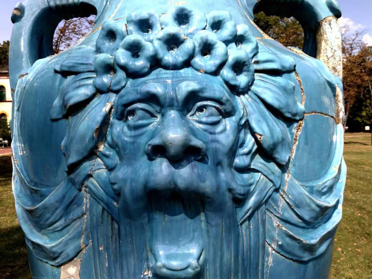 blue sculpture, statue, art, monument, ancient, daylight