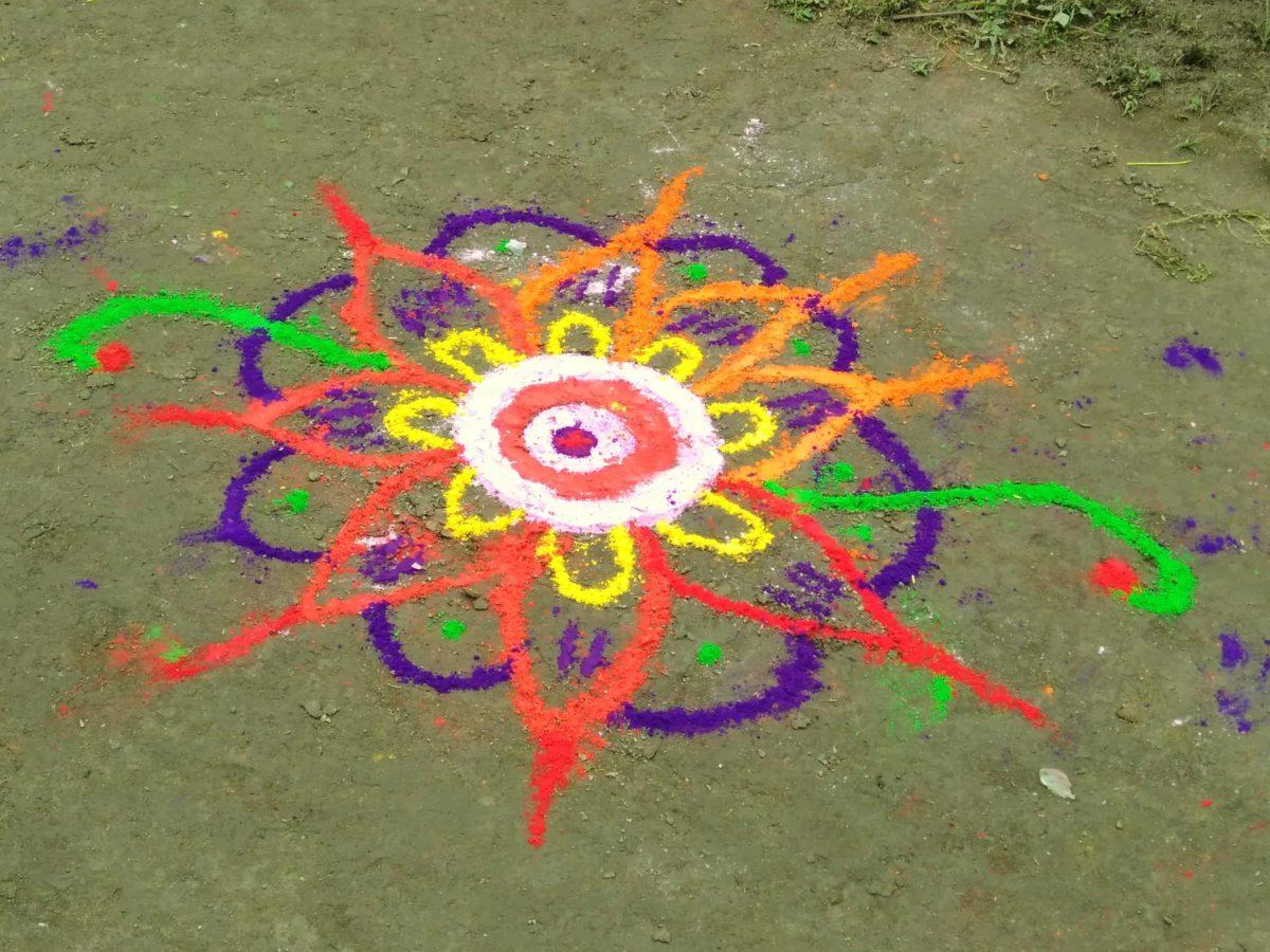 Free Picture Rangoli Art Chalk Color Holi Colorful