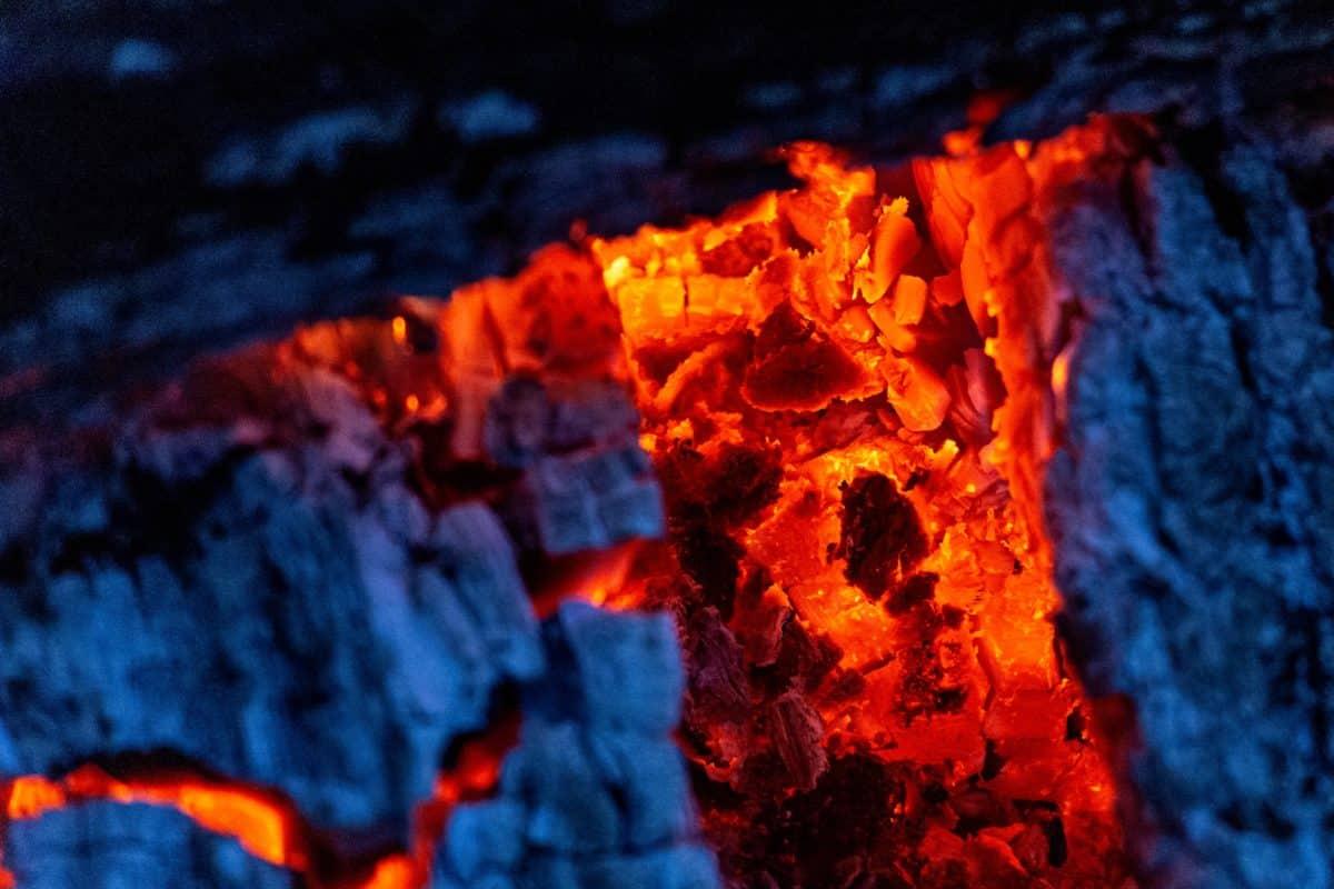 Feuer, Hitze, Flamme, heiß, Esche, Brennholz, Rauchen