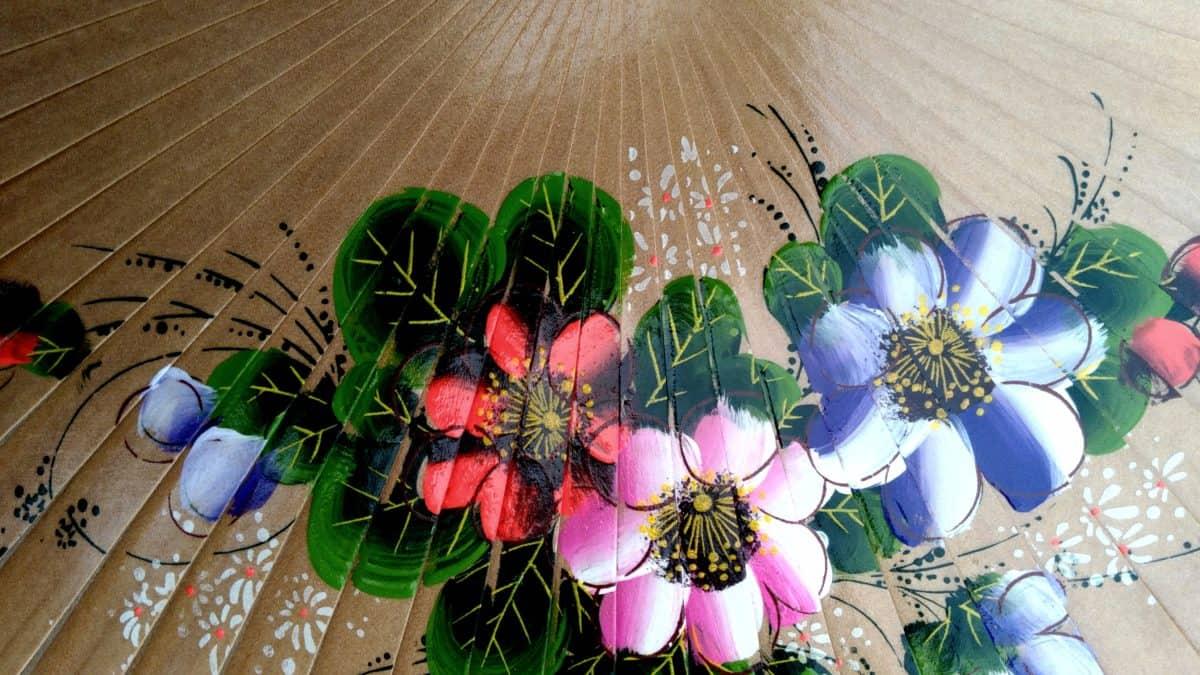 handheld fan, art, design, decoration, colorful, flower, object