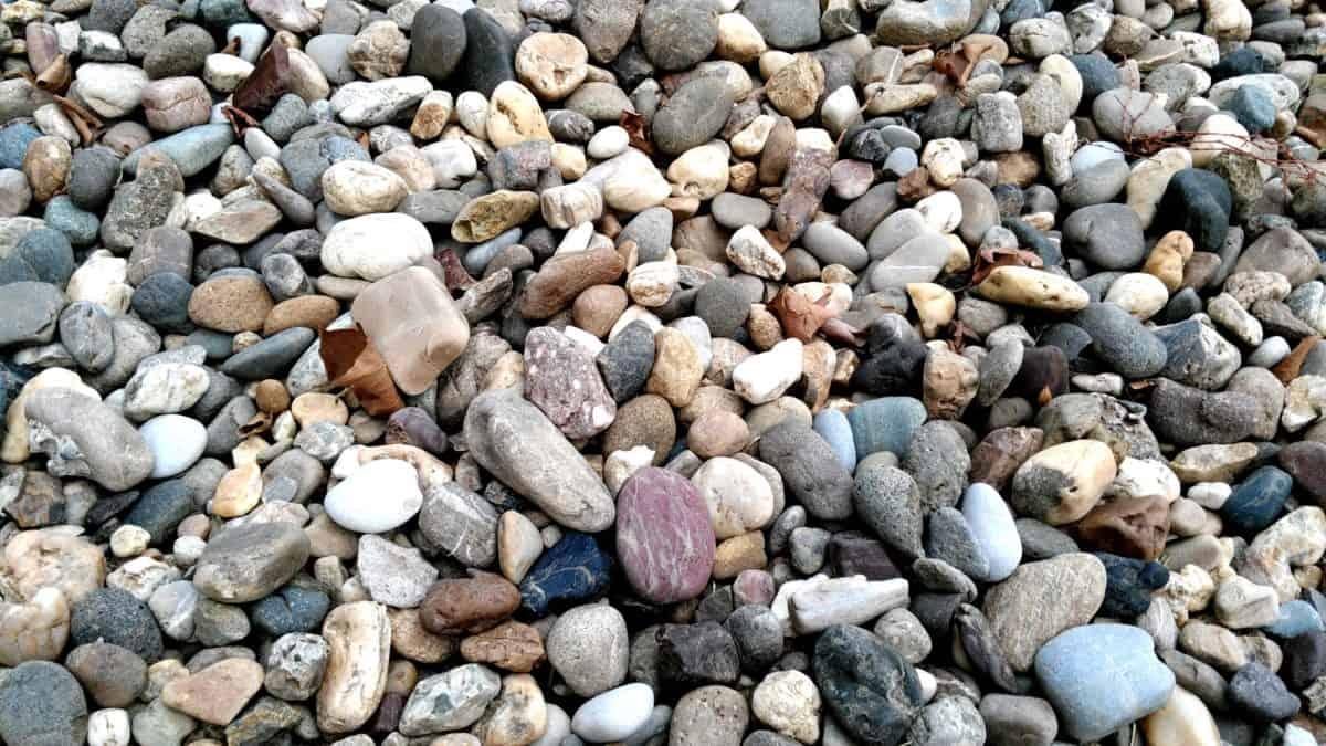 石头, 质地, 鹅卵石, 地面, 室外