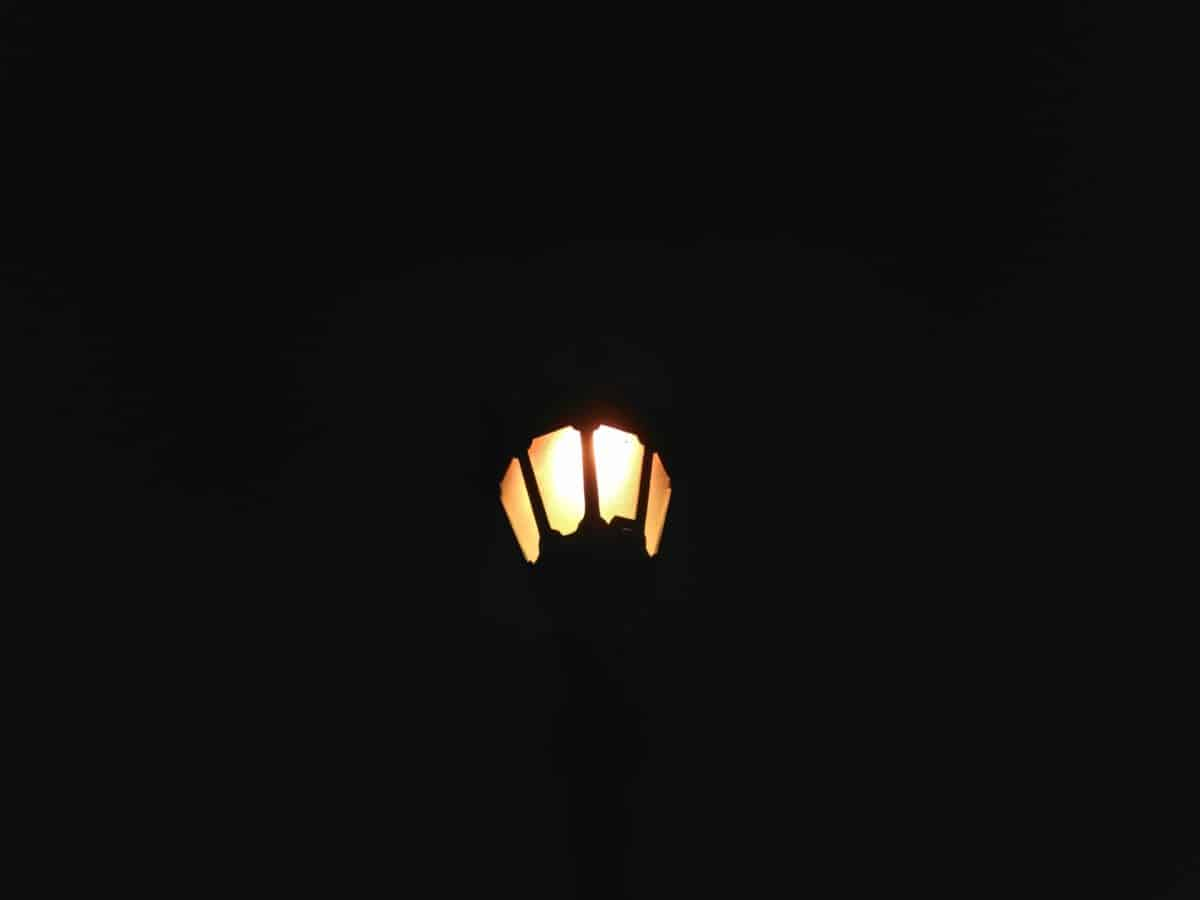 street lamp, silhouette, night, dark, darkness, light, illumination