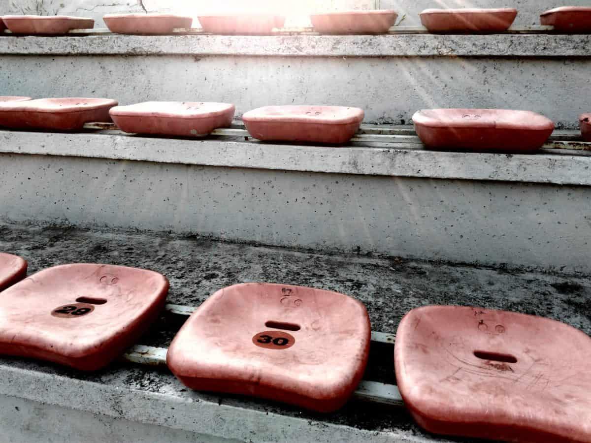 ghế, ban ngày, nắng, ngoài trời, cũ, ngoài trời