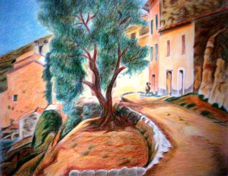 oil painting, tree, creativity, paint, colorful, art