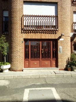 street, road, exterior, entrance, front door, window, architecture
