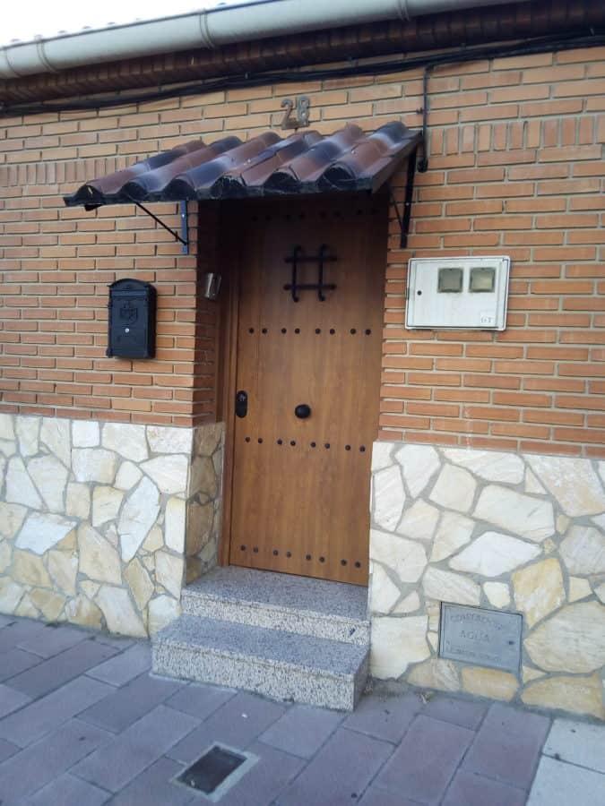porte d'entrée, mur de briques, trottoir, rue, urbain, Pierre, architecture, maison