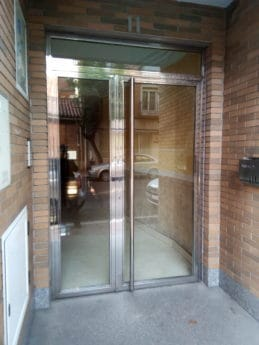 front door, exterior, glass door, building, urban, city