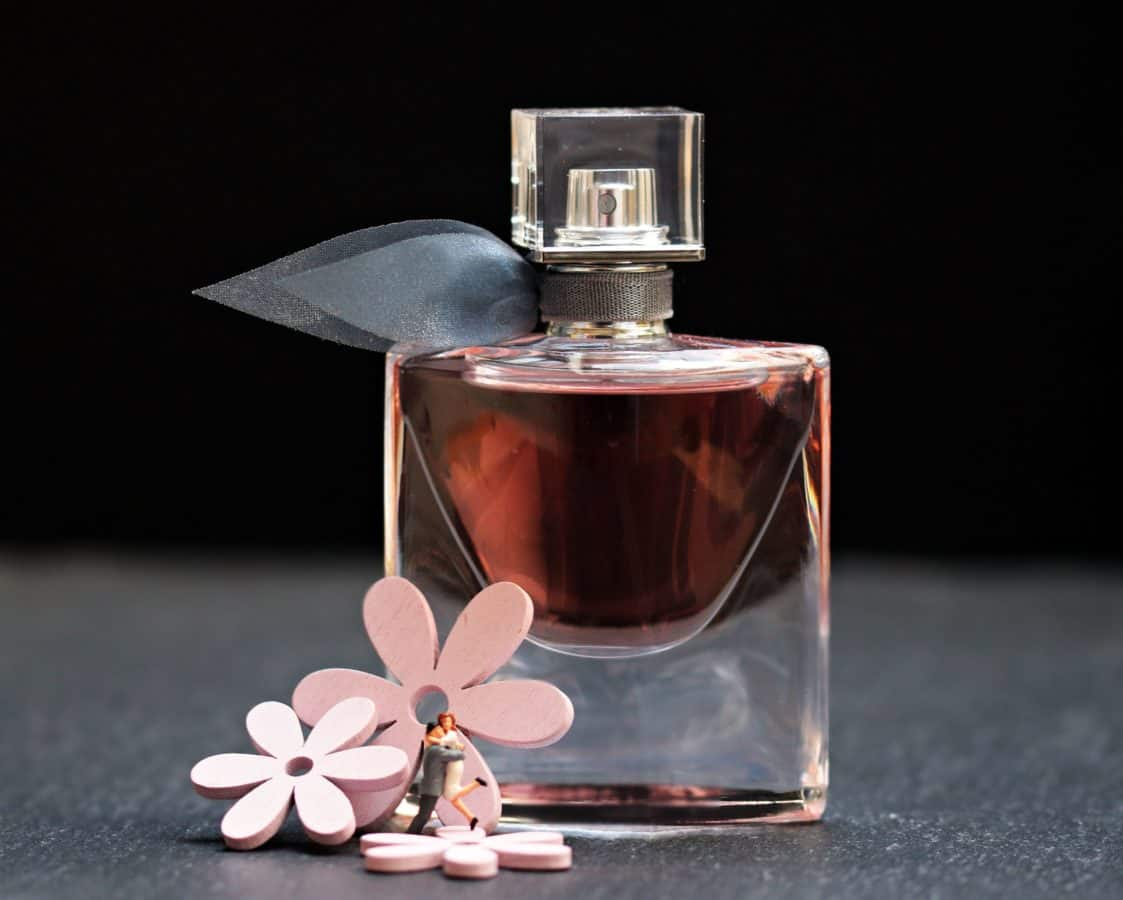perfume, bottle, flower, glass, fragrance, luxury, object