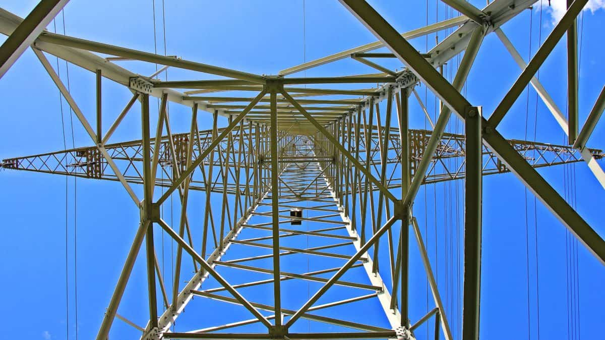 high, sky, voltage, construction, electricity, wire, steel
