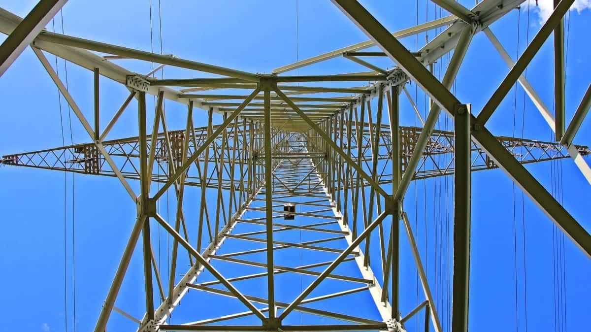 haut, ciel, tension, construction, électricité, fil, acier