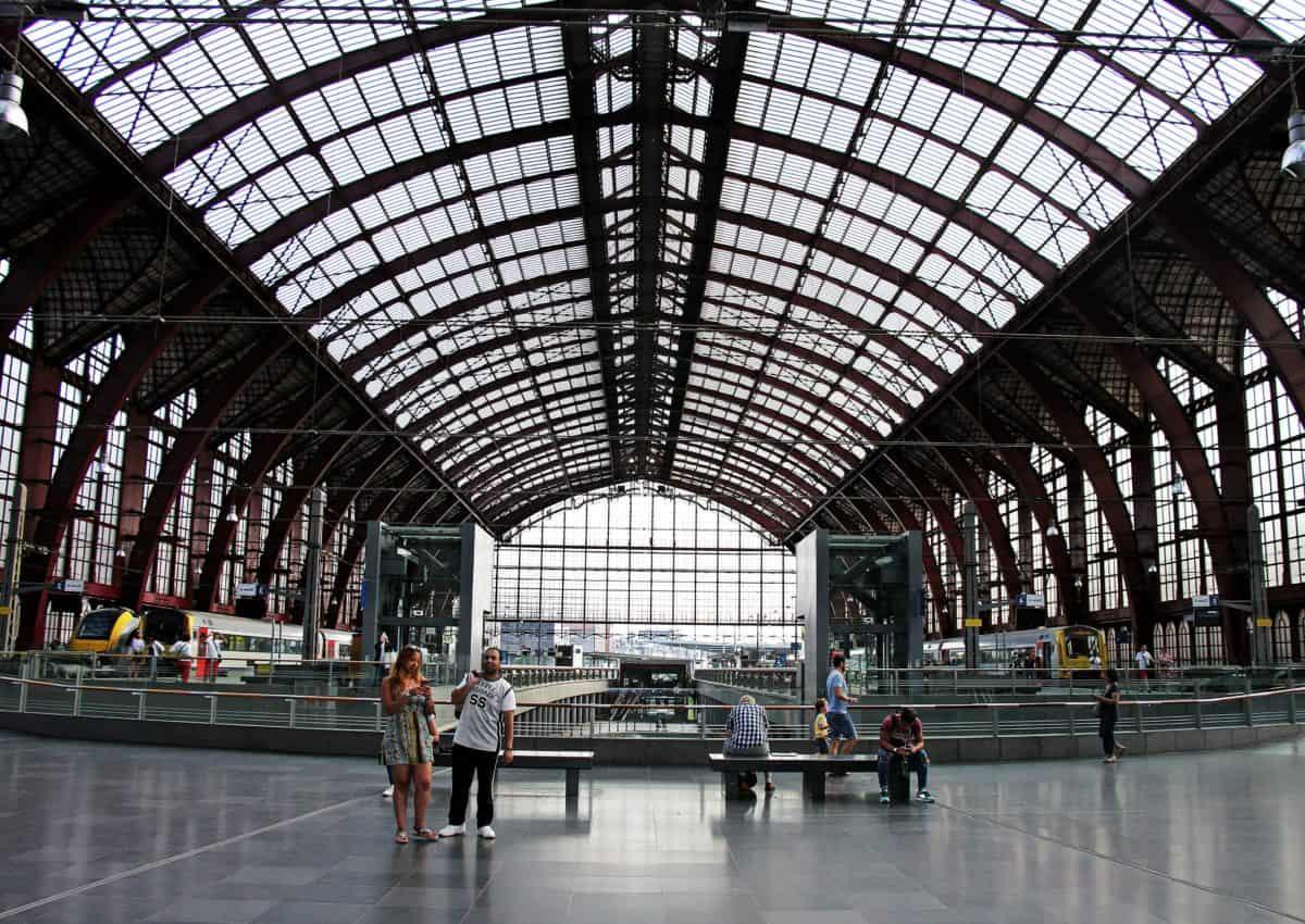terminal, railway, train, people, crowd, city, architecture, departure