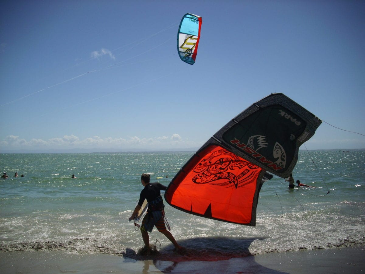 windsurfing, athlete, sport, seashore, ocean, sea, water, beach, equipment