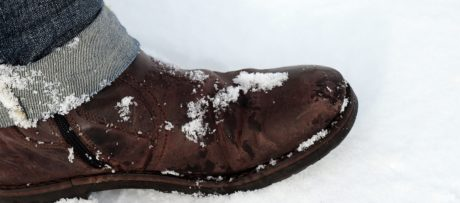 chaussure, neige, chaussures, humide, froid, hiver