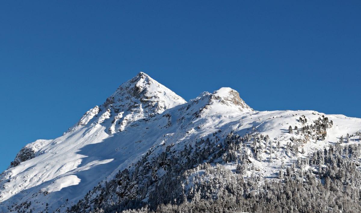 winter, snow, mountain, ice, cold, glacier, landscape, sky