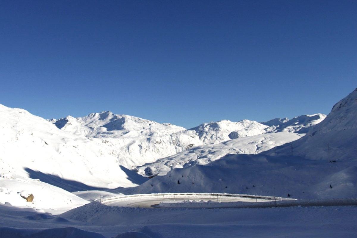 Hora, ledovec, zima, LED, studený, sníh, krajina, obloha