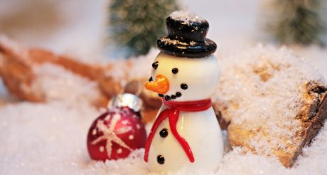 inomhus, dekoration, semester, vinter, snögubbe, figur