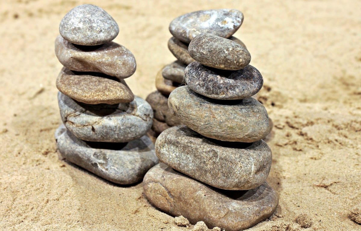 stone, sand, balance, nature, texture, beach