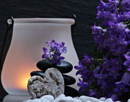 nature, meditation, flower, herb, plant, candle, light