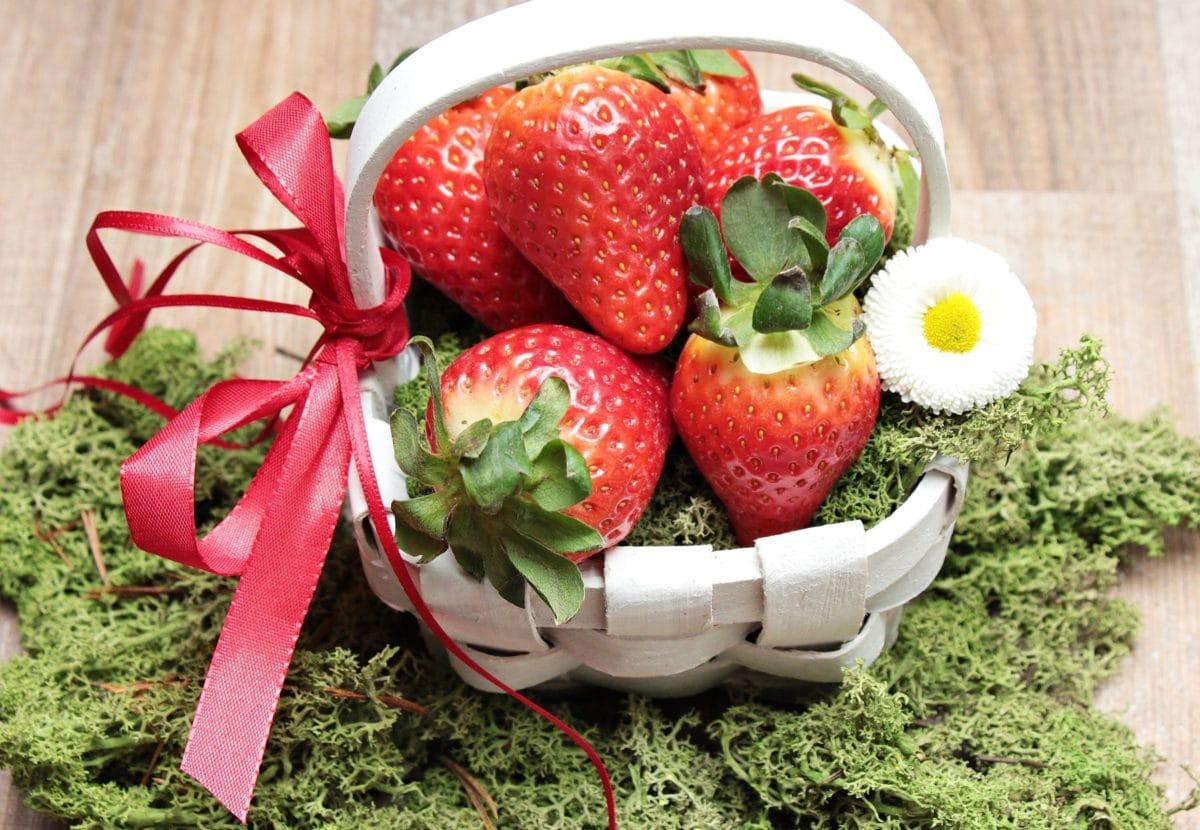 potraviny, jahody, ovoce, sladké, dezert, organické