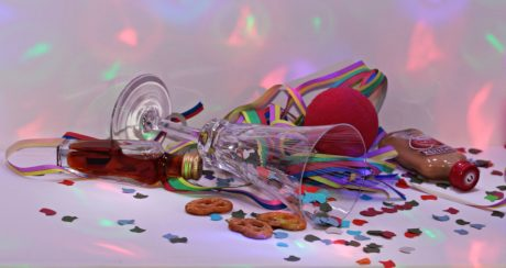 glass, indoor, tape, food, colorful, party, birthday, cake