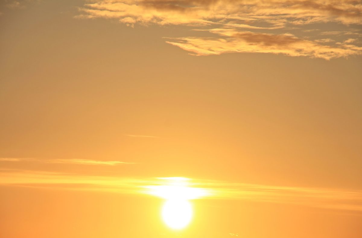skumring, himmel, daggry, sol, landskap, soloppgang
