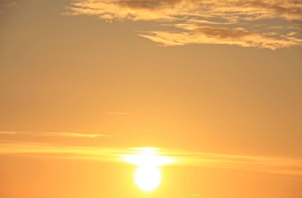 senja, langit, fajar, berjemur, pemandangan, matahari terbit