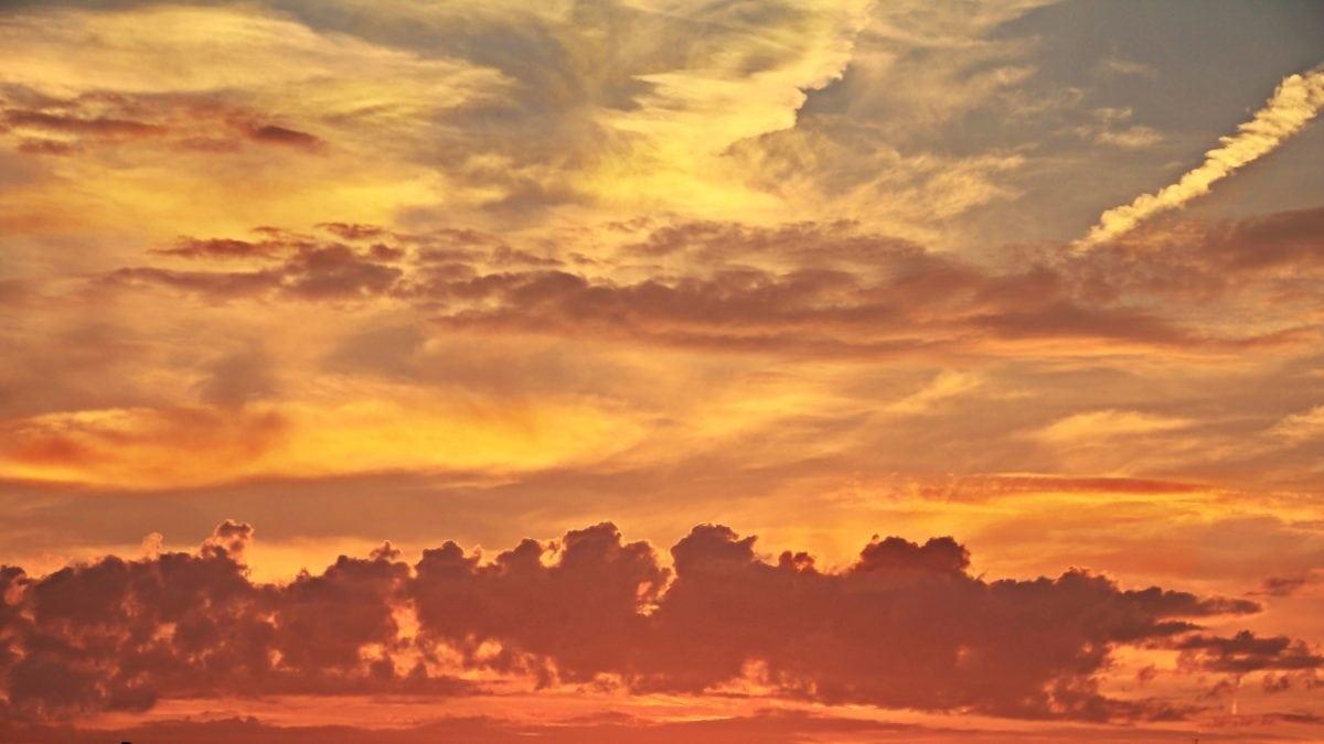 natur, gryning, himmel, sol, atmosfär, liggande, moln