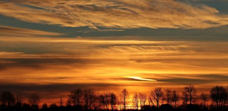 matahari terbenam, alam, senja, pemandangan, fajar, langit, matahari, suasana