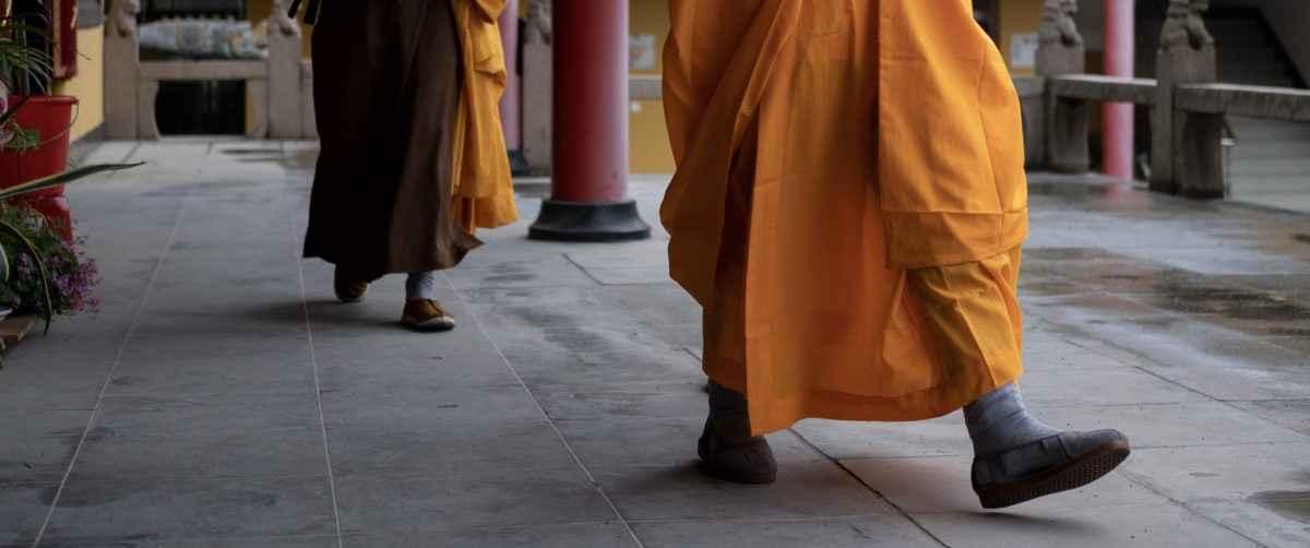 monk, city, street, man, religion, people, outdoor, person