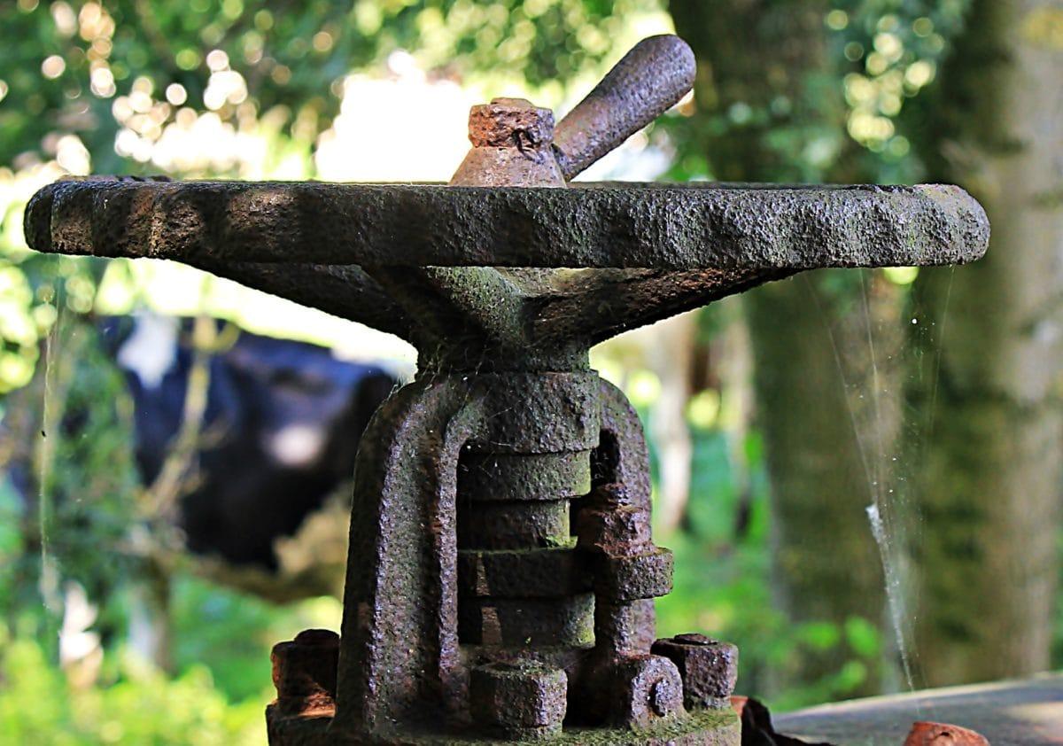 βαλβίδα, μέταλλο, αντίκα, υφή, ξύλο, χυτοσίδηρος