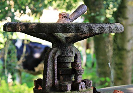 válvula, metal, antigüedad, textura, madera, arrabio
