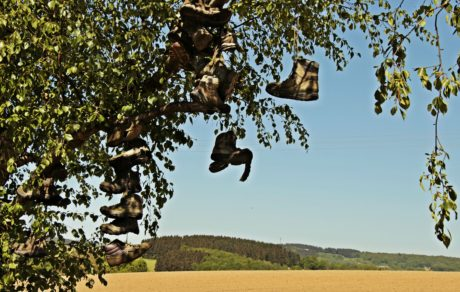 landscape, spring, field, hill, shoe, old