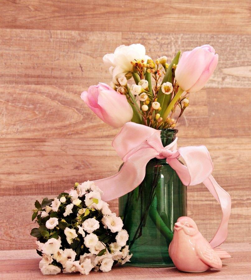 nature, flower, arrangement, pink, table