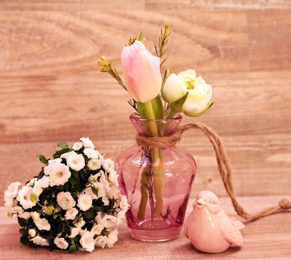 vase, flower, jar, arrangement, pink