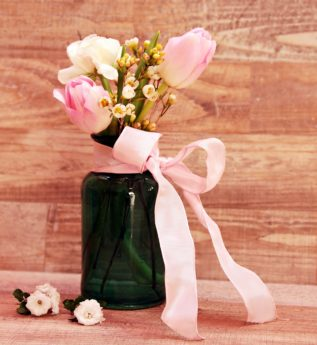 wood, flower, vase, pink, arrangement