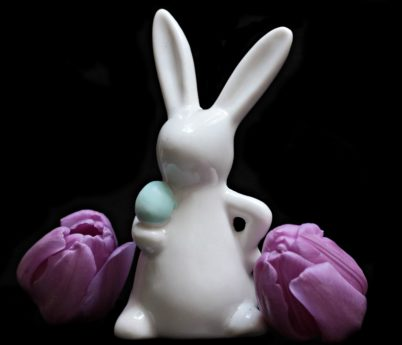 Easter rabbit, flower, petal, tulip, decoration, pink