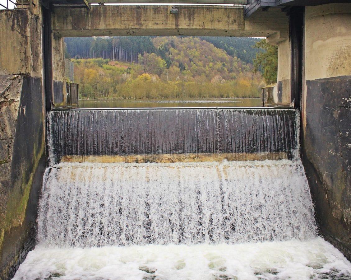 acquazzone, inondazione, posto di lavoro, industria, cascata, acqua, legno, diga, bagnato, ambiente