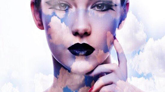 moda, mujer, cara, retrato, atractivo, labios