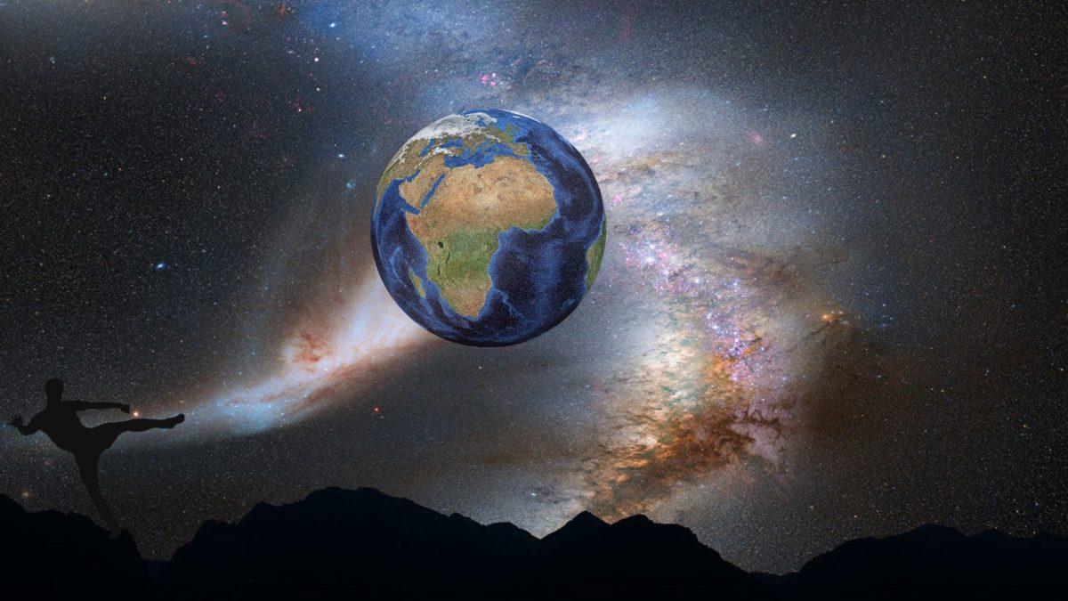 mand, galakse, astronomi, kunst, stjerner, planet, jorden