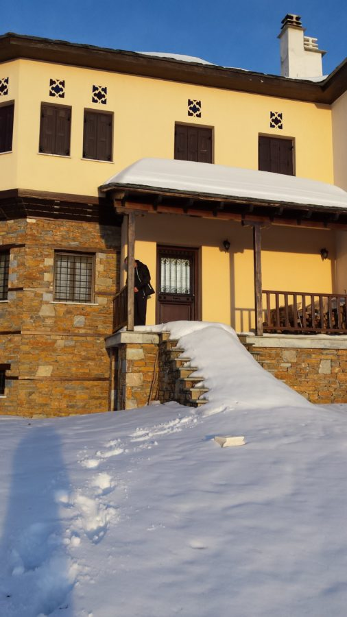 facade, architecture, house, structure, snow, home, winter, outdoor