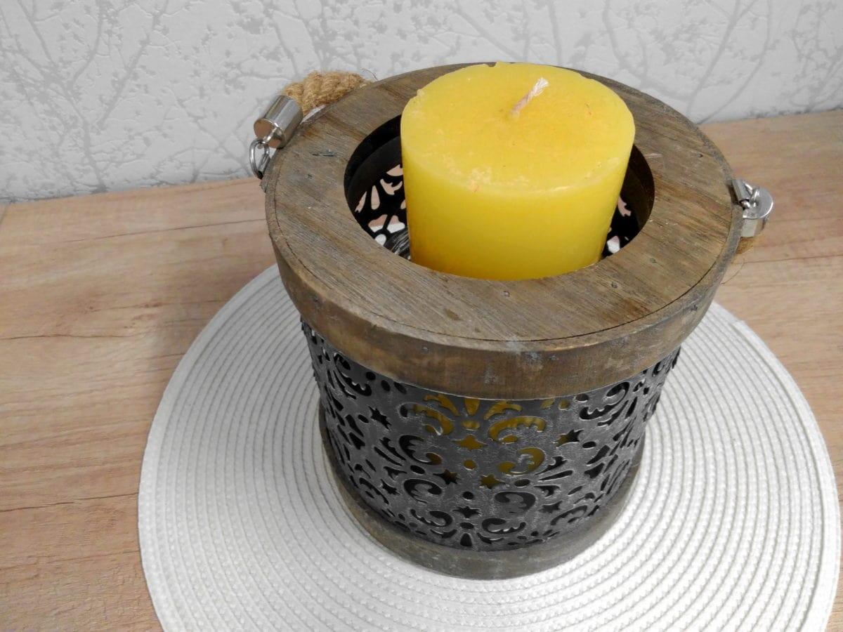 candle, wood, shelf, decoration, handmade, object, yellow, material, art