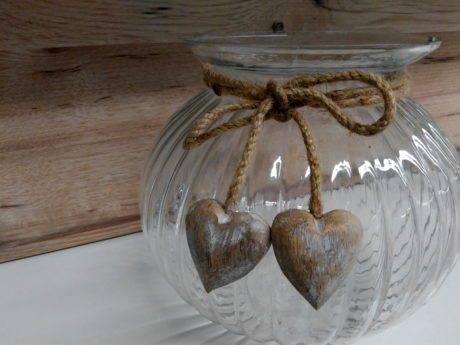 object, decoration, bowl, glass, heart, wood, shelf