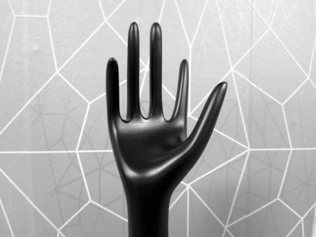 art, sculpture, monochrome, hand, black, material